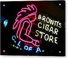 Red Man's Smoke Shop Acrylic Print by Elizabeth Hoskinson