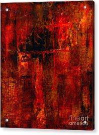 Red Odyssey Acrylic Print by Pat Saunders-White