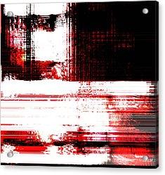 Red On Wood Acrylic Print by Fania Simon