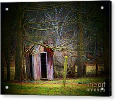 Red Outhouse Acrylic Print by Joyce Kimble Smith