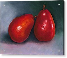 Red Pear Pair Acrylic Print by Joyce Geleynse