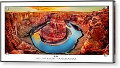 Red Planet Panorama Poster Print Acrylic Print by Az Jackson