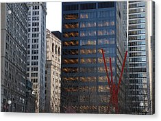 RED Acrylic Print by Rob Hans