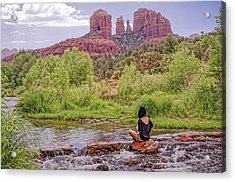 Red Rock Crossing -  Sedona Arizona Usa Acrylic Print by Tony Crehan