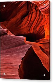 Red Rock Inferno Acrylic Print by Mike  Dawson