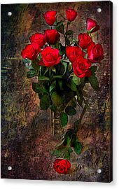 Red Roses Acrylic Print by Svetlana Sewell