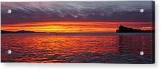 Red Sky In Morning, Sailor's Warning Acrylic Print by John Pierpont
