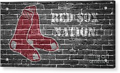 Red Sox Nation Acrylic Print by Edward Fielding