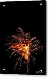 Red Splash Acrylic Print by Phill Doherty