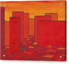 Red Town P2 Acrylic Print by Manuel Sueess