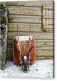 Red Wheelbarrow Acrylic Print by Susan Leggett