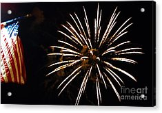 Red White And Blue Acrylic Print by Gina Sullivan