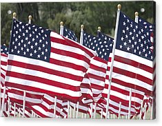 Red White And Blue Acrylic Print by Jerry McElroy