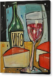 Red Wine And Cheese Acrylic Print by Tim Nyberg