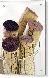 Red Wine Corks Acrylic Print by Frank Tschakert