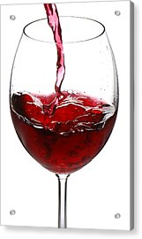 Red Wine Acrylic Print by Jaroslaw Grudzinski