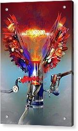 Redbull Gives You Wings Acrylic Print by Robert Palmer