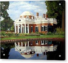 Reflecting On Jefferson Acrylic Print by J Luis Lozano