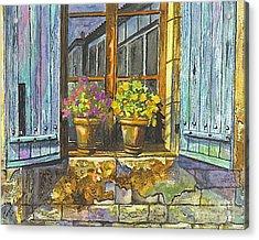 Reflections In A Window Acrylic Print by Carol Wisniewski