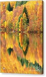 Reflections Loch Tummel Scotland Acrylic Print by George Hodlin