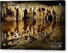 Reflections Of Dream Lake At Luray Caverns Acrylic Print by Paul Ward