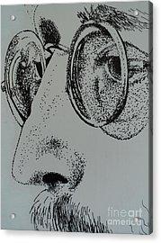 Reflections Of Peace John Lennon Acrylic Print by Carla Carson