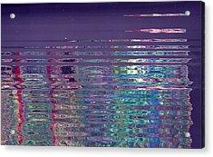 Reflections On A Rainy Morn Acrylic Print by Anne-Elizabeth Whiteway