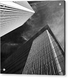 Reflections On Black Acrylic Print by William Oswald