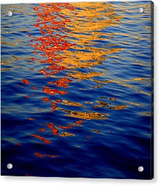 Reflections On Kobe Acrylic Print by Roberto Alamino
