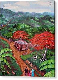 Regreso Al Campo Acrylic Print by Luis F Rodriguez