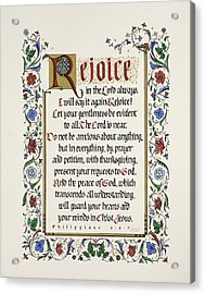 Rejoice II Acrylic Print by Judy Dodds