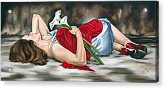 Rejoice Acrylic Print by Ilse Kleyn