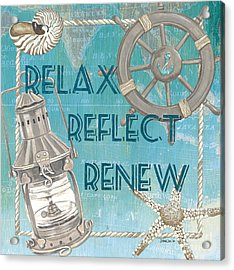 Relax Reflect Renew Acrylic Print by Debbie DeWitt