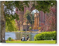 Relaxing At The Palace Acrylic Print by Kate Brown