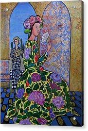Remembering The Flower Door Acrylic Print by Marilene Sawaf