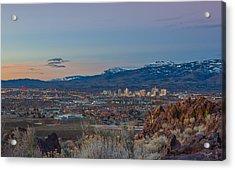 Reno Spring Sunrise Acrylic Print by Scott McGuire