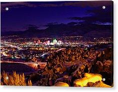 Reno Winter  Acrylic Print by Scott McGuire