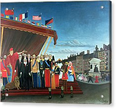 Representatives Of The Forces Greeting The Republic As A Sign Of Peace Acrylic Print by Henri Rousseau