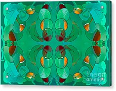 Resting Realities Abstract Art By Omashte Acrylic Print by Omaste Witkowski