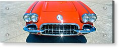 Restored Red 1959 Corvette, Front Acrylic Print by Panoramic Images