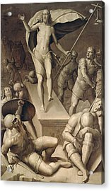 Resurrection Of Christ Acrylic Print by Italian School