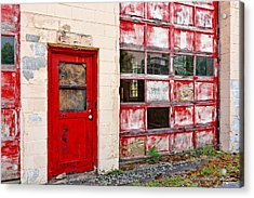 Retired Garage Acrylic Print by Christopher Holmes
