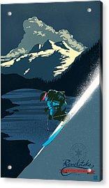 Retro Revelstoke Ski Poster Acrylic Print by Sassan Filsoof