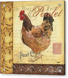 Retro Rooster 1 Acrylic Print by Debbie DeWitt