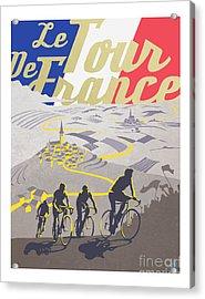 Retro Tour De France Acrylic Print by Sassan Filsoof