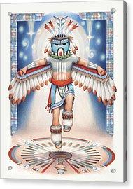 Return Of The Blue Star Kachina Acrylic Print by Amy S Turner