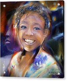 Returning A Smile Acrylic Print by Bob Salo
