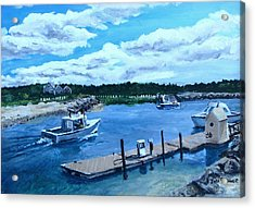 Returning To Sesuit Harbor Acrylic Print by Jack Skinner