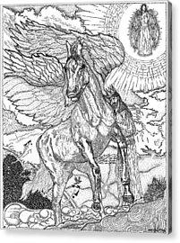 Revelation   Return Of The King Acrylic Print by Glenn McCarthy Art and Photography