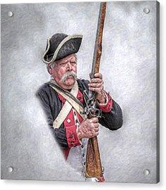 Revolutionary War American Soldier Acrylic Print by Randy Steele